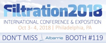 Filtration 2018 Exhibitor Albarrie Filtration Media Producer at Booth #119