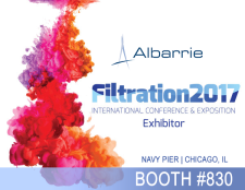 Industrial Filtration Fabric Supplier & Manufacturer Albarrie Exhibiting at Booth #830