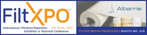 Albarrie will be featuring its filter media at FiltXpo Feb 2020