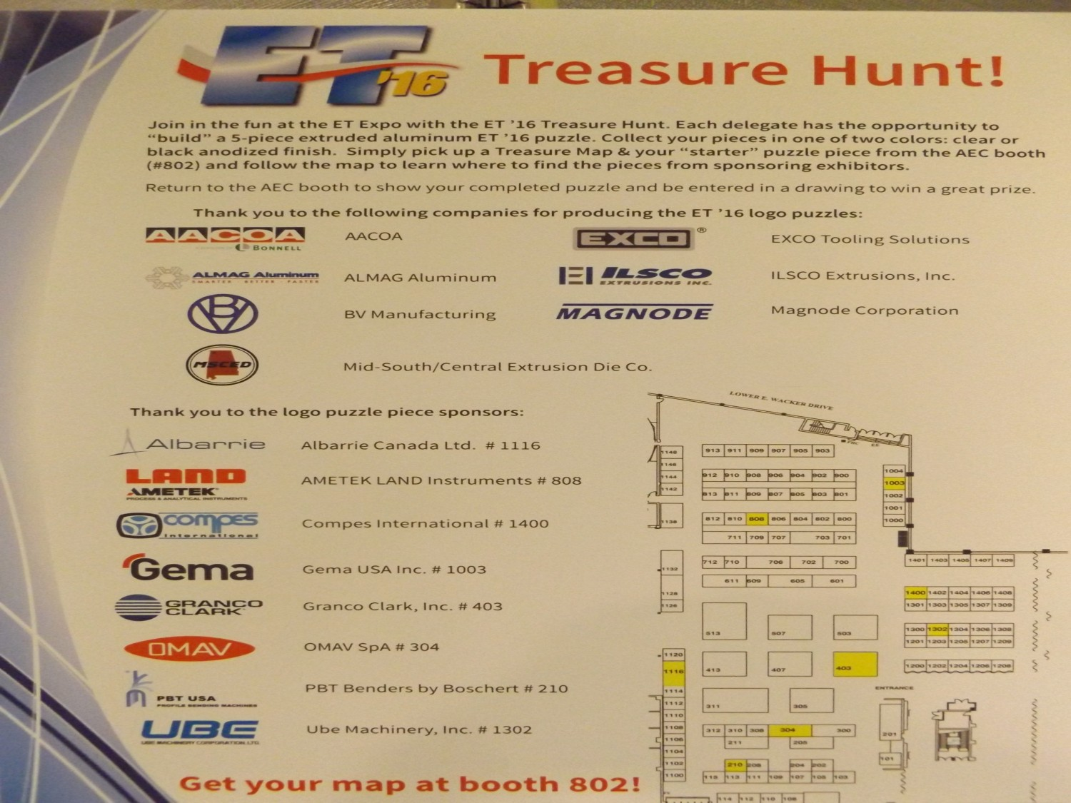 Industrial fabrics, Technology, aluminum extrusion, ET'16, technical felts, Albarrie, treasure hunt, Chicago