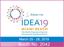 IDEA 2019 Exhibitor Albarrie will be at BOOTH #2042 to show you their needlepunched nonwoven engineered felts