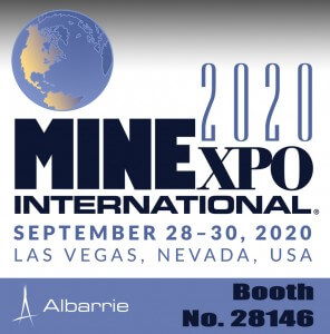MINEXPO International Exhibitor Albarrie at booth 28146