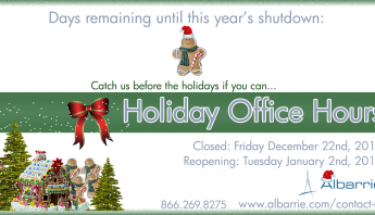 Albarrie's Holiday Hours