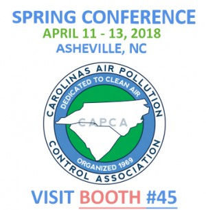 Carolinas air pollution control association, Albarrie will be exhibiting at the 2-18 Spring Conference April 3- 5