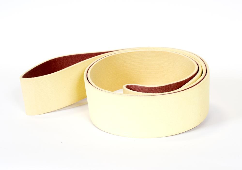 Kevlar endless belt with base coating, for transfer and cooling, operating temp 800 farenheit