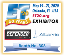 Extrusion Technology 20 (ET'20) - Exhibitor Albarrie Canada Ltd. BOOTH 308