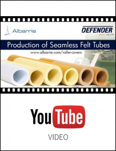 Felt Roller Covers for conveyor systems and handling systems, general conveyance