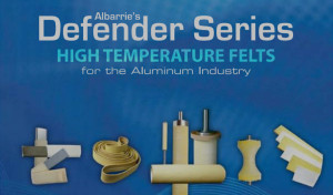 Felts for the aluminum industry