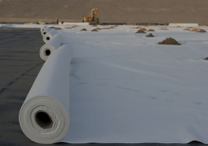 Geotextiles and geomembranes, protect impermeable geomembrane with nonwoven needlepunch geotextile