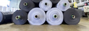 Rolls of material for fabricators, specialty fabric, high temperature felts