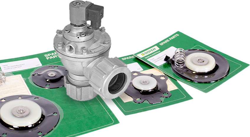 Dust Collector Parts -solenoids, diaphragm valves, & repair kits