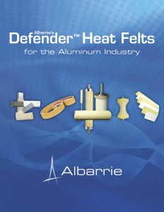 Industrial fabrics for the aluminum extrusion industry and glass industry