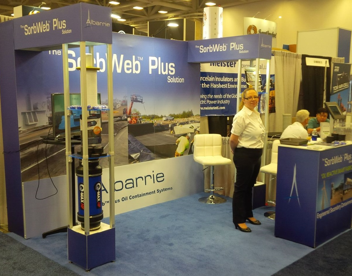 Secondary oil containment system, spill control, Sorbweb Plus, Albarrie Geocomposites
