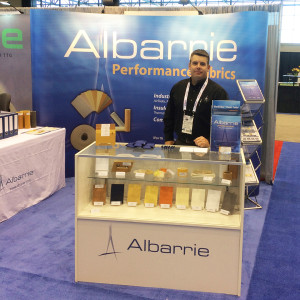 Visit Albarrie at Booth #1449 with any technical questions about nonwoven textiles