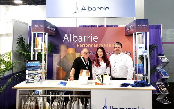 IDEA 2019 in Miami, Florida - Exhibitor Albarrie Canada Limited - Nonwoven Needlepunch Felts Supplier