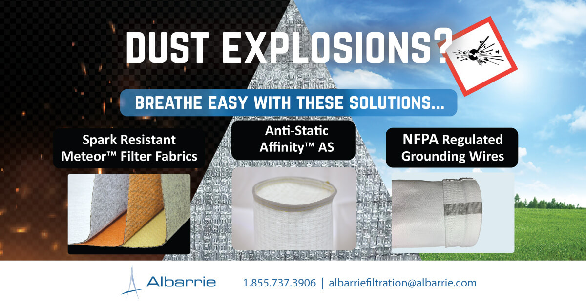 Industrial Filtration Solutions to Mitigate dust explosions